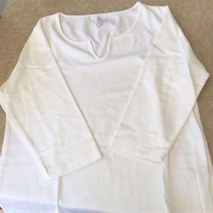 Chico's White T-shirt, Size 3X